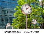 Clock In Canary Wharf. London ...