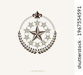pentagonal stars emblem created ... | Shutterstock .eps vector #1967554591