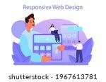 responsive web design concept....