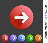 different flat arrow icons for...