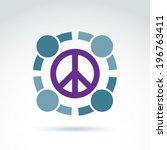 round antiwar vector icon  no... | Shutterstock .eps vector #196763411