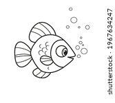 cute cartoon big sea fish with... | Shutterstock .eps vector #1967634247