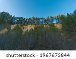 tall pine trees on the hill... | Shutterstock . vector #1967673844