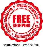 red special offer free shipping ... | Shutterstock .eps vector #1967703781