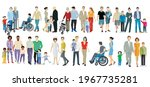 set of different families ... | Shutterstock .eps vector #1967735281