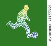 football player abstract... | Shutterstock .eps vector #196777304