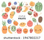 cute little fruits with smiling ...   Shutterstock .eps vector #1967802217