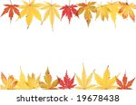 autumnal acer leaves forming a... | Shutterstock . vector #19678438