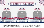 usa memorial day greeting card...   Shutterstock .eps vector #1967847184