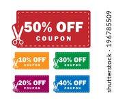 coupons discounts | Shutterstock . vector #196785509