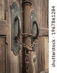 Historic Wooden Door With Chain ...