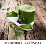 young barley and chlorella... | Shutterstock . vector #196792451