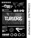 scifi and hud box elements for... | Shutterstock .eps vector #1967940121