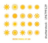 vector set of sun symbols.  | Shutterstock .eps vector #196799129
