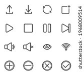 ui  ux line icons set  user...