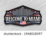 vector logo for miami  black... | Shutterstock .eps vector #1968018397