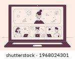 online learning  elearning ...   Shutterstock .eps vector #1968024301