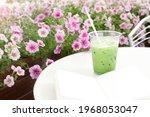 Matcha Ice Green Tea In Take...