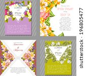 wedding invitation cards with...   Shutterstock .eps vector #196805477