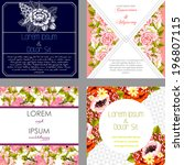 wedding invitation cards with... | Shutterstock . vector #196807115