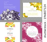 wedding invitation cards with... | Shutterstock . vector #196807124