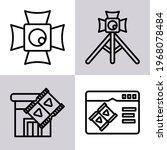 film icon  film making icon ... | Shutterstock .eps vector #1968078484