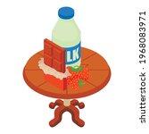 sweet dessert icon. isometric... | Shutterstock .eps vector #1968083971