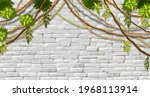 wall  branches liana  ivy....   Shutterstock .eps vector #1968113914