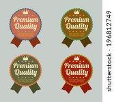set of vintage retro badge | Shutterstock .eps vector #196812749
