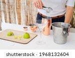 cropped shot of bartender...   Shutterstock . vector #1968132604