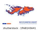 orange map of falkland islands...   Shutterstock .eps vector #1968143641