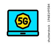 5g color vector icon. network...   Shutterstock .eps vector #1968149584