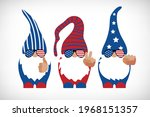 patriotic gnomes with trendy... | Shutterstock .eps vector #1968151357