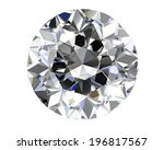 diamond on white background ... | Shutterstock . vector #196817567