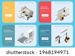 horizontal banners set with... | Shutterstock .eps vector #1968194971
