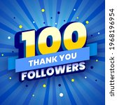 100 followers colorful banner.... | Shutterstock .eps vector #1968196954