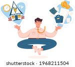 work life balance concept....   Shutterstock .eps vector #1968211504