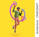 cheerful young african man in a ...