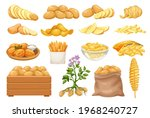 potato products icons set.... | Shutterstock .eps vector #1968240727