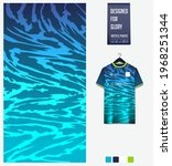 soccer jersey pattern design.... | Shutterstock .eps vector #1968251344