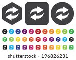 refresh  icon | Shutterstock .eps vector #196826231