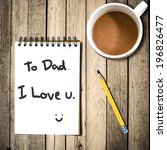 father day concept with... | Shutterstock . vector #196826477