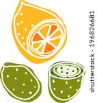 the view of fruits  | Shutterstock .eps vector #196826681