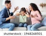 Parental Quarrels. Arab Man And ...