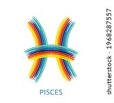 zodiac sign pisces isolated on... | Shutterstock .eps vector #1968287557