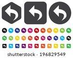 arrow icon | Shutterstock .eps vector #196829549