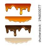 set melting chocolate  milk...   Shutterstock .eps vector #196833077