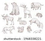 different forest animals... | Shutterstock .eps vector #1968338221