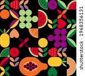 vintage retro fruit vector... | Shutterstock .eps vector #1968356131