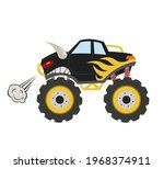 cartoon monster truck. big... | Shutterstock .eps vector #1968374911